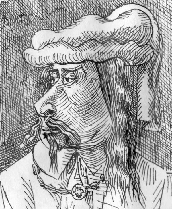 Homme-chapeauté