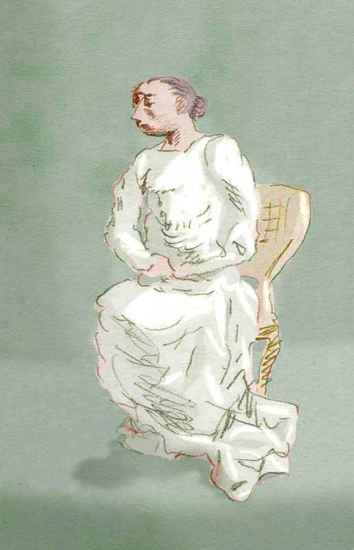 Femme-assise
