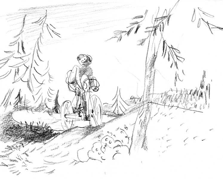 Cycliste-en-montagne